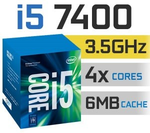 Intel Core i5-7400 | 3.00~3,50GHz | 6MB Cache | 4C/4T | TDP 65W