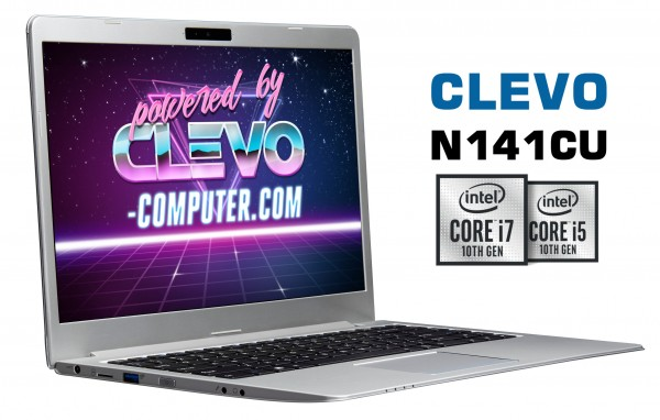 CLEVO N141CU | Intel Core 10th Comet Lake | Metallgehäuse | Intel UHD 620 | Thunderbolt 3
