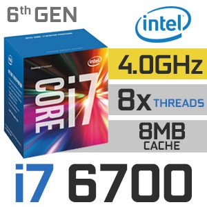 Intel Core i7-6700 | 3 40~4 00GHz | 8MB Cache | 4C/8T | TDP 65W