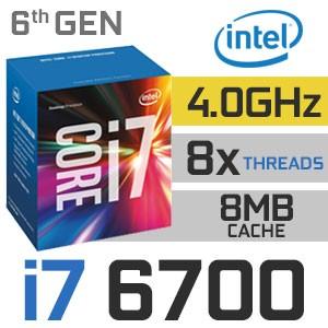 Intel Core i7-6700 | 3.40~4.00GHz | 8MB Cache | 4C/8T | TDP 65W
