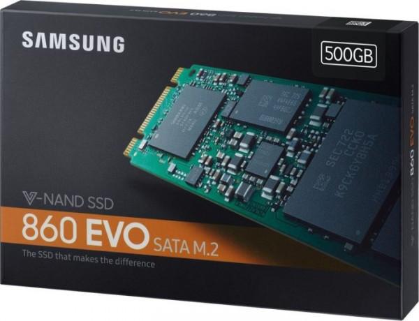 500GB Samsung 860 Evo SSD M.2 | SATA | R/W 550/520 MB/s