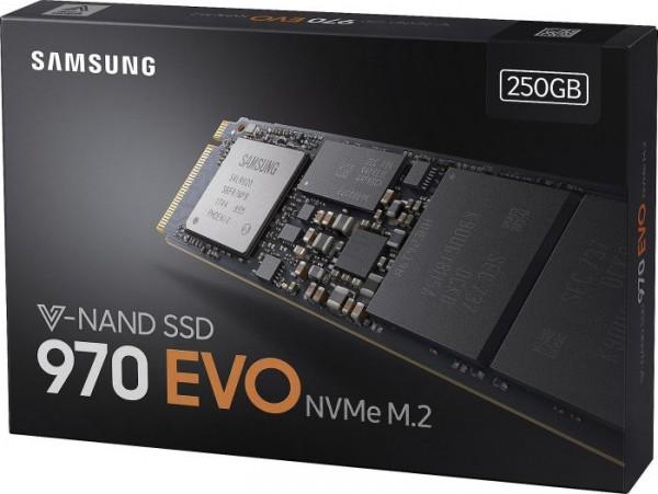 250GB Samsung 970 Evo SSD M.2 | PCIe 3.0 x4 | NVMe | R/W 3400/1500 MB/s