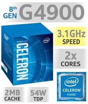Intel Celeron G4900 | 3,10GHz | 2MB Cache | 2C/2T | TDP 54W