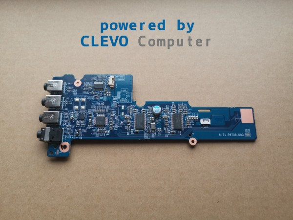 6-77-P8708-D03 (6-71-P8708-D03) AUDIO BOARD CLEVO P870DM P870DM-G