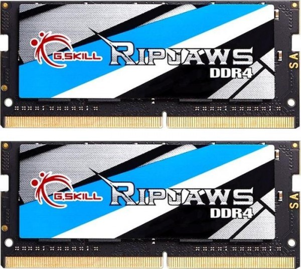 G.Skill RipJaws SO-DIMM kit 16GB, DDR4-2666, CL18-18-18-43 (F4-2666C18D-16GRS)