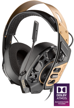 Plantronics RiG 500 PRO High-resolution Dolby Atmos surround-ready gaming headset for PC