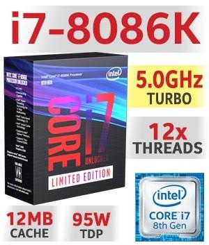 Intel Core i7-8086K Limited Edition, 6x 4.00GHz, boxed ohne Kühler (BX80684I78086K)
