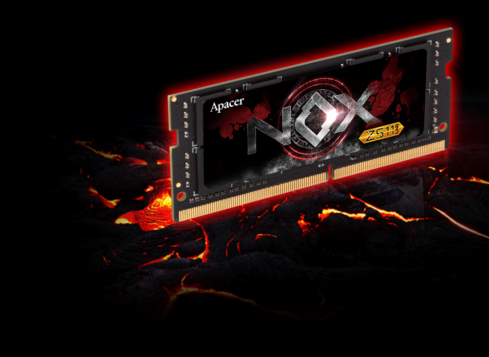APACER-NOX-DDR4-SO-DIMM-Gaming-Memory-Module-FRONT-LABEL-STRIKING-DESIGN-THERMAL-RESISTANCE