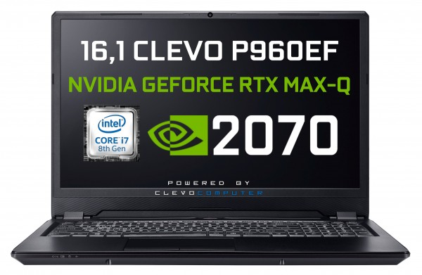 CLEVO P960EF Intel Core i7-8750H Coffee Lake | Metal Chassis | NVIDIA RTX 2070 Max-Q VR