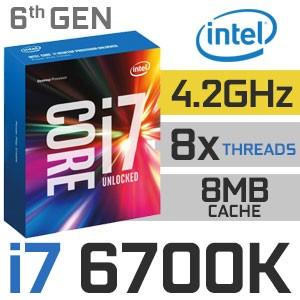 Intel Core i7-6700K Unlocked | 4.00~4.20GHz | 8MB Cache | 4C/8T | TDP 91W