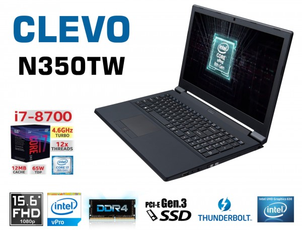 CLEVO N350TW Intel Desktop i7-8700 Hexa Core | Thunderbolt 3 | Intel UHD Graphics 630 | Docking Stat