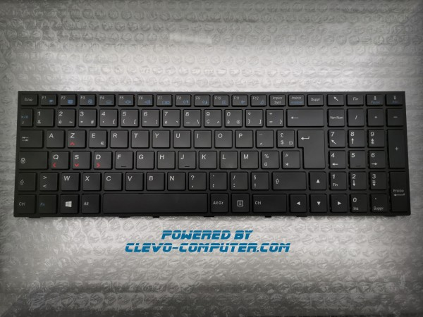 6-80-P6500-061-1 WHITE-LED TASTATUR (KEYBOARD) AZERTY FRENCH CLEVO N15x N17x P65x P67x