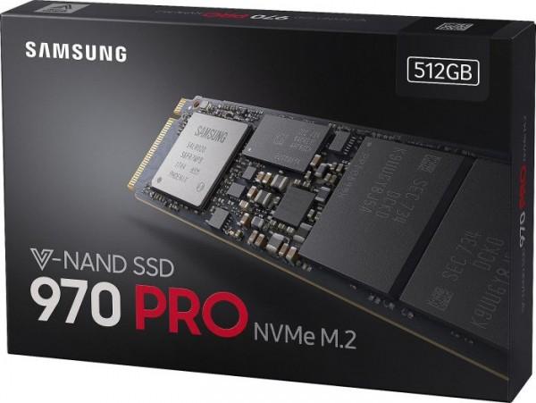 512GB Samsung 970 PRO, SSD M.2 2280 NVMe PCIe 3.0 x4 (MZ-V7P512BW)