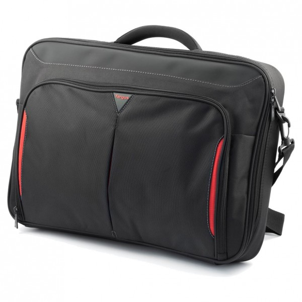 "Targus Classic+ 17-18"" Clamshell Laptop Bag - Black/Red"