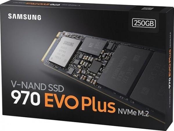 250GB Samsung 970 Evo Plus, SSD M.2 2280 NVMe PCIe 3.0 x4 (MZ-V7S250BW)