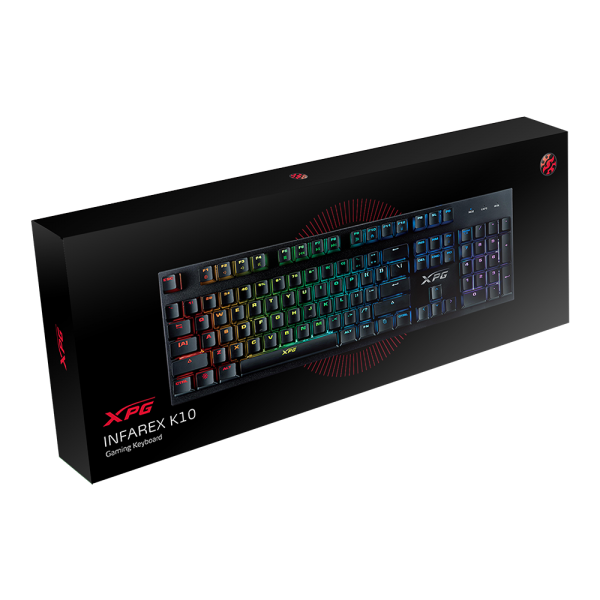 ADATA XPG INFAREX K10 Gaming Keyboard QWERTZ German