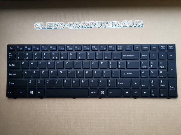 6-80-N2501-10-1 Keyboard Tastatur White LED Backlit Language Sprache English US International CLEVO