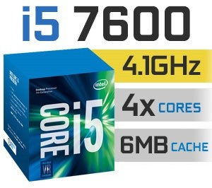 Intel Core i5-7600 | 3.50~4,10GHz | 6MB Cache | 4C/4T | TDP 65W