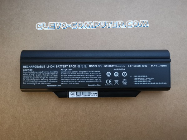 Battery 62Wh CLEVO N350DW