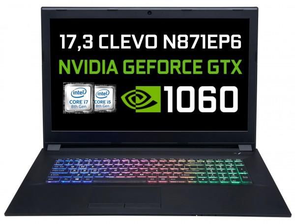 CLEVO N871EP6 Intel Core i7-8750H Coffee Lake | NVIDIA GTX 1060
